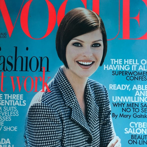Vogue Other - VOGUE August 1995 Linda Evangelista Cover Like NEW